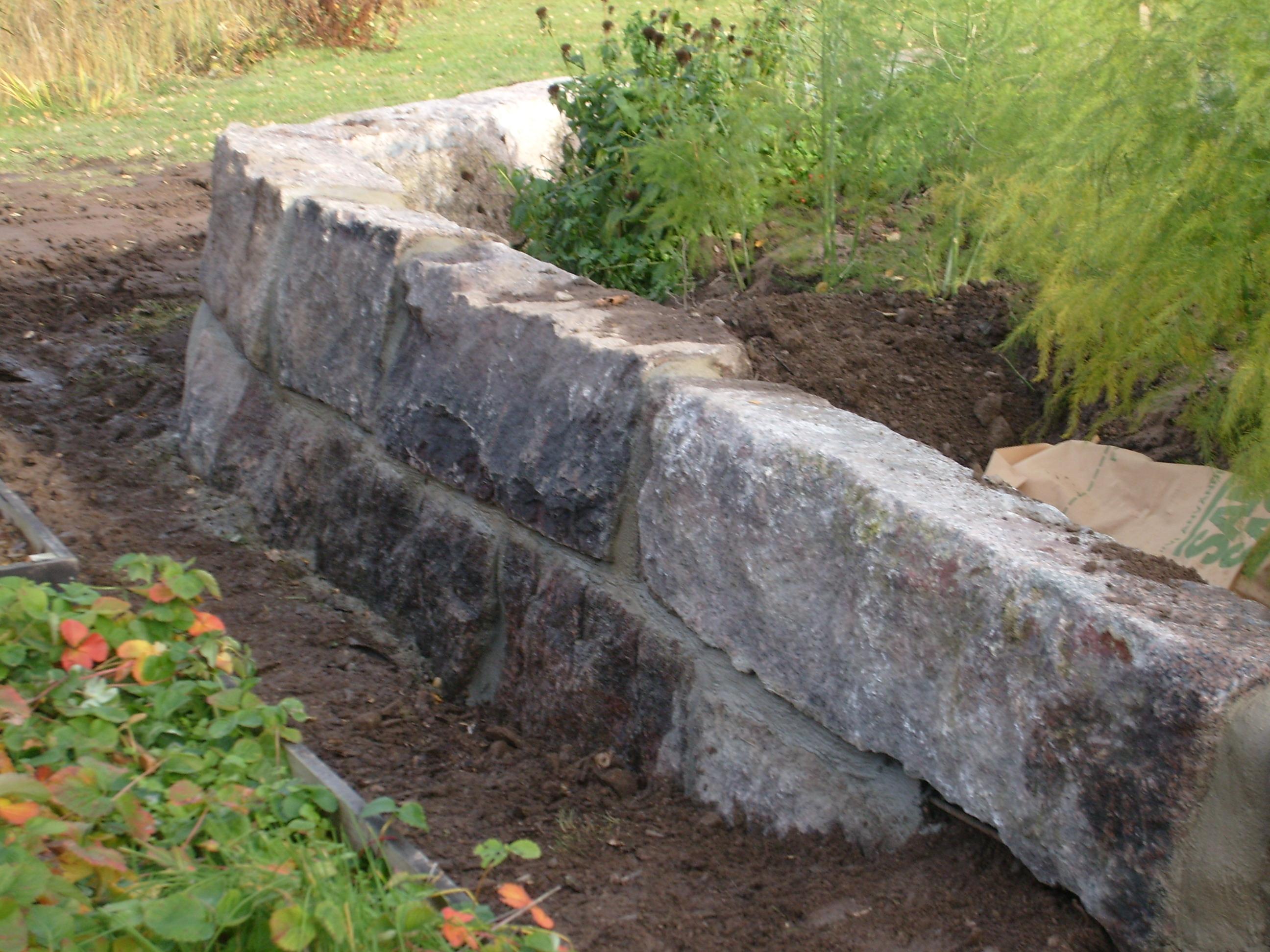 Sten, murar, husgrund, dränering - allt för mark & trädgård